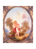 Cupid Among Roses, or Love the Sentinel, C.1775 Giclee Print by Jean-Honore Fragonard