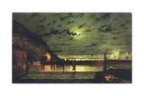 The Harbour Flare, 1879 Giclée-Druck von John Atkinson Grimshaw