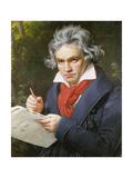 Ludwig Van Beethoven (1770-1827) Composing His 'Missa Solemnis' Giclee Print by Joseph Karl Stieler