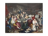 The Orgy, Plate III from 'A Rake's Progress', Illustration from 'Hogarth Restored: the Whole… Giclee Print by William Hogarth