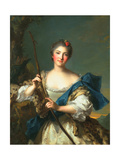 Mademoiselle De Migieu as Diana, 1742 Giclee Print by Jean-Marc Nattier