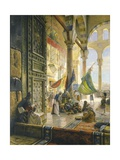 Forecourt of the Ummayad Mosque, Damascus, 1890 Giclee Print by Gustave Bauernfeind