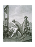 Robespierre (1758-1794) Dies on the Guillotine Giclée-tryk