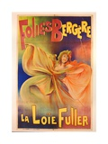 Poster Advertising La Loie Fuller at the Folies Bergere Giclee Print by Charles Lucas