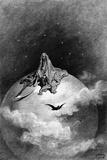 Illustration from Edgar Allan Poe's 'The Raven', 1882 Reproduction procédé giclée par Gustave Doré