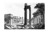 General View of the Roman Forum, 1817 Giclee Print by Luigi Rossini
