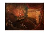 Satan Enthroned in Hell Giclée-tryk af Samuel Colman