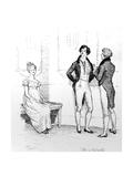 She Is Tolerable', Illustration from 'Pride and Prejudice' by Jane Austen, Edition Published in… Lámina giclée por Hugh Thomson