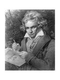 Ludwig Van Beethoven Composing His 'Missa Solemnis', 1819 Giclee Print by Joseph Karl Stieler