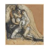 Charity Giclée-tryk af Auguste Rodin