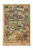 Map of Crusader Jerusalem, 1170 Reproduction procédé giclée
