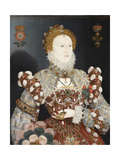 Queen Elizabeth I - the Pelican Portrait, C.1574 Giclée-tryk af Nicholas Hilliard