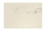 Reclining Half Nude to the Right, C.1914-15 Giclée-Druck von Gustav Klimt