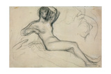 Seated Female Nude, 1881 Giclee Print by Pierre Puvis de Chavannes