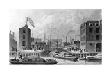Entrance to the Regent's Canal, Limehouse, Engraved by F. J. Havell, 1828 Giclee Print by Thomas Hosmer Shepherd