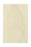 Seated Woman from the Front, C.1917-18 Giclée-Druck von Gustav Klimt
