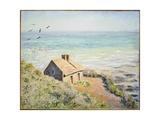 The Customs Hut, Morning, 1882 Giclée-Druck von Claude Monet