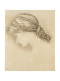 Woman's Head, Detail from a Sketchbook, 1886 Reproduction procédé giclée par Edward Burne-Jones