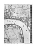 A Map of Limehouse and Rotherhithe, London, 1746 Giclee Print by John Rocque