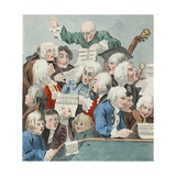 The Chorus or Rehearsal of the Oratorio of Judith, Illustration from 'Hogarth Restored: the Whole… Giclee Print by William Hogarth