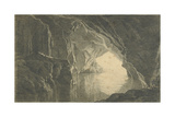A Grotto in the Gulf of Salerno, Evening, C.1800 Giclee Print by Joseph Wright of Derby