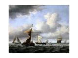 A Brisk Breeze, C.1665 Giclée-Druck von Willem Van De Velde The Younger