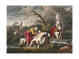 The Good Samaritan, Illustration from 'Hogarth Restored: the Whole Works of the Celebrated… Giclee Print by William Hogarth