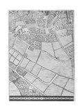 A Map of Bermondsey, London, 1746 Giclee Print by John Rocque