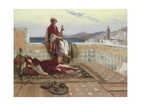 On the Terrace, Tangiers Giclée-Druck von Rudolphe Ernst