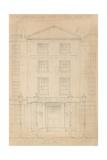 Original Pencil Sketch of the Adelphi Theatre, London, by Thomas H Shepherd Giclee Print by Thomas Hosmer Shepherd
