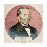 Benito Juarez (1806-1872). Mexican Politician Lámina giclée
