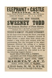 Advert for Sweeney Todd the Demon Barber of Fleet Street Giclée-vedos