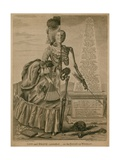 Life and Death Contrasted - or an Essay on Woman Giclee Print by Robert Dighton