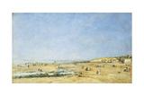 Trouville, General View of the Beach; Trouville, Vue Generale De La Plage, 1890 Giclee Print by Eugène Boudin