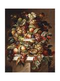 Naturaleza muerta con uvas y melocotones Lámina giclée por Charles Baum