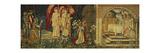 The Achievement of the Holy Grail by Sir Galahad, Sir Bors and Sir Percival Lámina giclée por Edward Burne-Jones