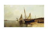 Calm Morning, Portland Harbor Giclée-tryk af Alfred Thompson Bricher