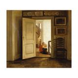 Children in an Interior Gicléetryck av Carl Holsoe