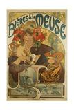Meuse Beer; Bieres De La Meuse, 1897 Giclée-tryk af Alphonse Mucha