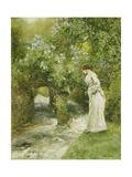 The Mill Stream in Spring Gicléetryck av Hopkins, Arthur