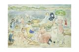 A Day at the Beach Giclee-trykk av Maurice Brazil Prendergast