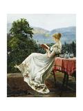 On the Terrace Giclee Print by Johann Hamza