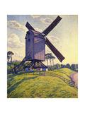 Windmill in Flanders; Moulin En Flandre, 1894 Gicléetryck av Théo van Rysselberghe