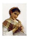 A Breton Girl, 1889 Reproduction procédé giclée par William Adolphe Bouguereau