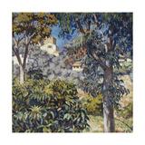 Paysage Du Midi, C.1920-1922 Gicléetryck av Théo van Rysselberghe