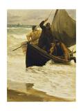 Fisherman Returning Home, Skagen, 1885 Giclée-tryk af Peder Severin Kröyer