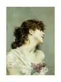 Profile of a Young Woman Giclée-tryk af Giovanni Boldini