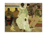 Candombe Giclée-tryk af Pedro Figari