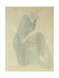 Seated Woman; Femme Assise Gicléetryck av Auguste Rodin