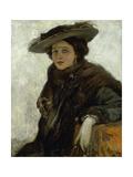 The Spanish Hat or Mrs. Gerard Chowne Gicléetryck av Sir John Lavery